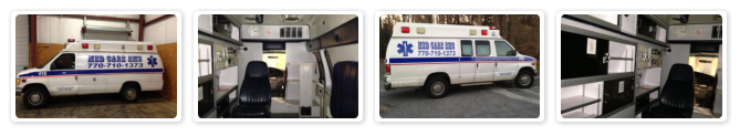 series of photos showcasing a variety of ambulance